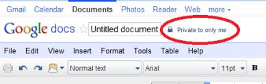 Google Docs privacy