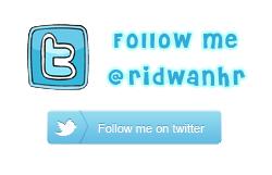 Klik disini untuk follow twitter ridwanhr